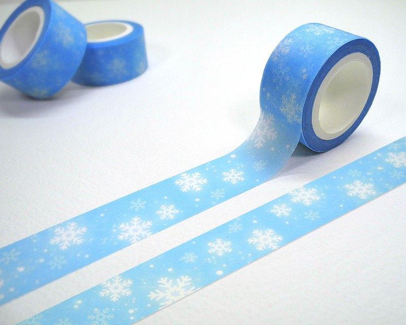 雪花點點紙膠帶