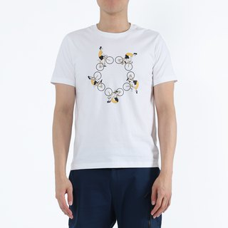 Wheel War - Bicycle Print Tee (White)