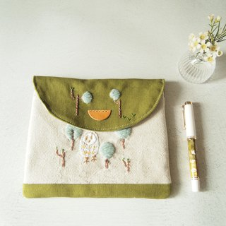 6 into the wild bird observation embroidery pen pencil case