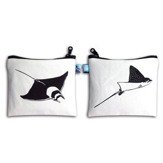Design No.JMR149 - 【Eagle Ray X Devil Ray】Two-Sided Ray Purses