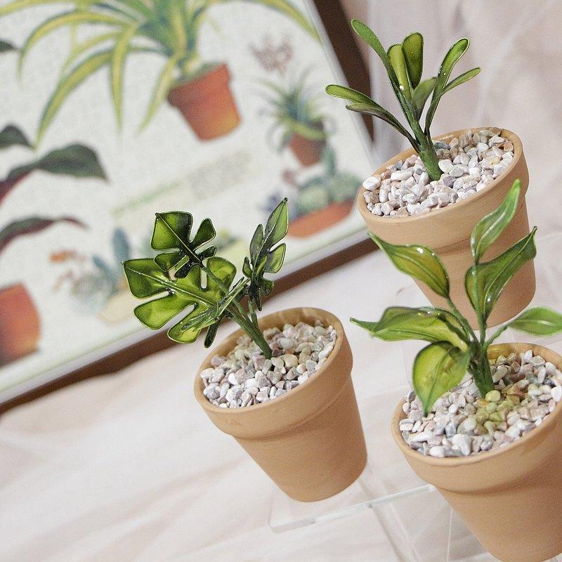 水晶花擺件|日本樹脂|小植栽擺設_歲月靜好