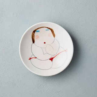 Wu Zhongzong - Fat Lady Series - Small Saucer - Red Panties