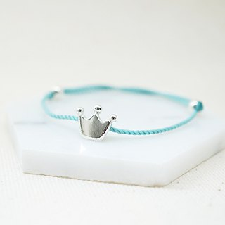 Hello Baby Sterling Silver Bracelet - Crown