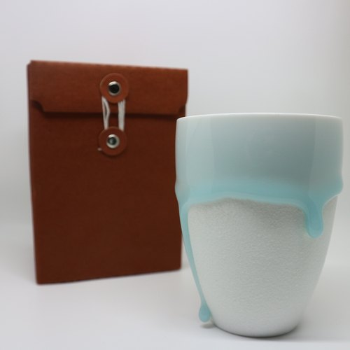 Midsummer Gift Blessing Series - Baby Blue in Melted - Ceramic Coffee Mug - 300ml Large