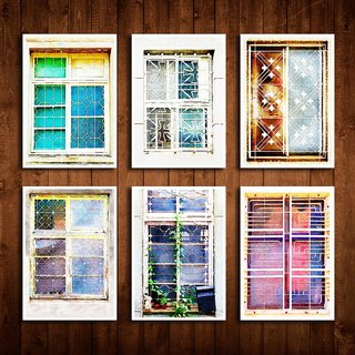 Old House Eye – Geometric Iron Window Postcard Set III