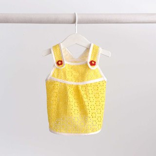 | chacha.metyou / You are my little sun halter dress / with dog hairy kids |