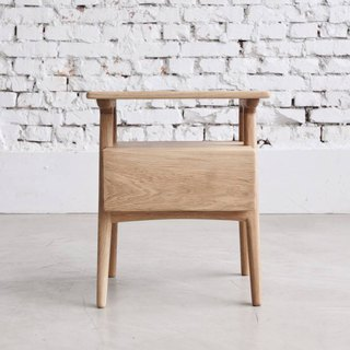 Small meat coffee oak drawer small side table (custom size)