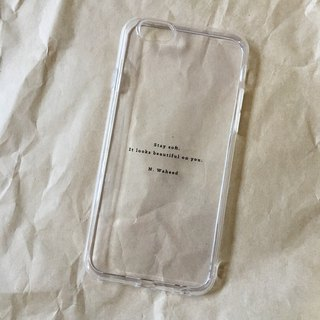 stay soft / soft shell / text phone shell