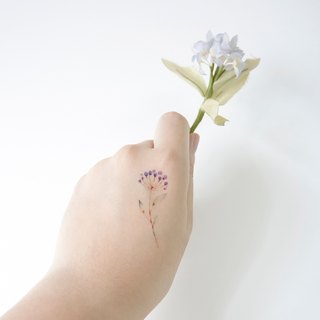 Flower Series Pattern Temporary Tattoo, Set of Six, Flower Temporary Tattoo