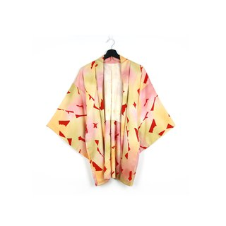 Back to Green-Japan brings back the feather weaving plum flavor //vintage kimono