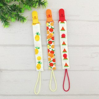 Fruit Party -3 optional. Hand pacifier chain / toy chain - button and wear rope (vanilla pacifier) ​​(length adjustable)
