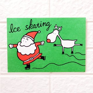 Christmas - Santa Claus with elk postcards No. 12