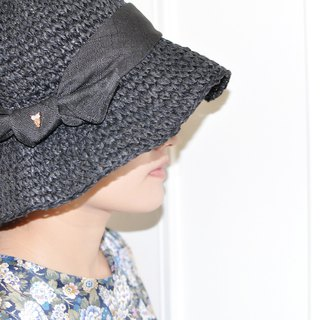 Flat 135 X Taiwanese Designer Roughly Knot Folded Owl Straw Hat Cap