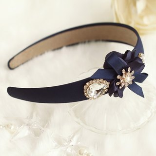 Pretty Flower with Rhinestones Headband
