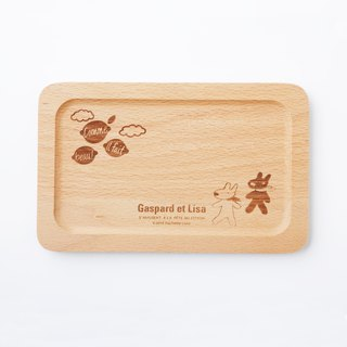 Lisa and Casper wooden square plates - sunny weather