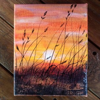 Warm autumn composite acrylic painting mediums