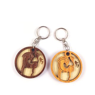 Woodcarving Keyring - 12th Birthday (Malaysia)