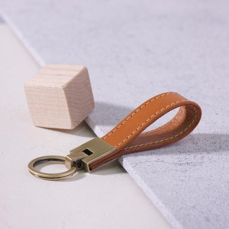長條鑰匙圈Long Key Chain - 淺棕 Tan / 免費刻字 交換禮物/ 免費刻字 | 聖誕禮物 |