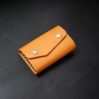 [Christmas limited offer] six-hole key bag - camel [Fulie District carved leather]