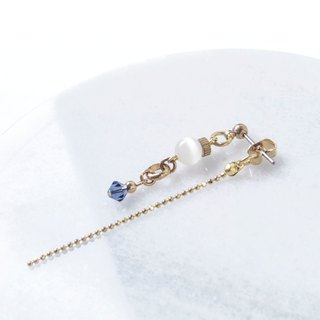 Find it / Glacier Shrine - Opal Crystal Brass Earrings