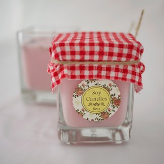 Bungalow No. 12 - four models - green glass roving fragrance Soy Candles (Romantic Rose)!