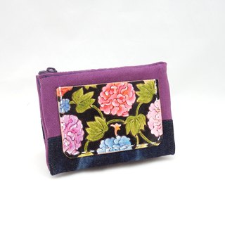 Leather & Cloth Purses Peonies
