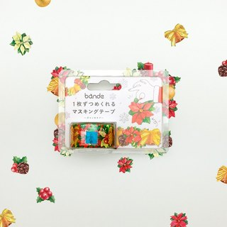 Japanese bande Christmas limited - Christmas red and paper tape sticker roll