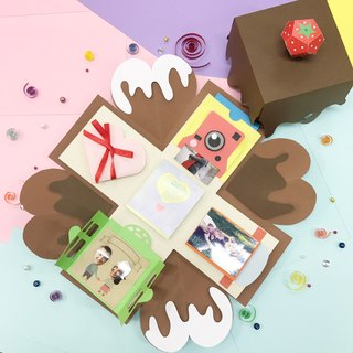 Chocolate Limited Edition Explosion box with 5 easy features Materials Pack