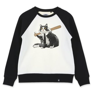AMO®Original cotton adult Sweater /AKE/Gang cat with a baseball bat