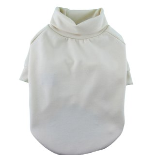 Ivory Ponte di Roma Turtleneck Raglan Tee, Dog Top, Dog Apparel
