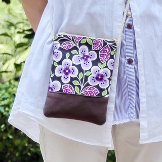 Silverbreeze ~ phone bag / shoulder bag / backpack ~ Purple white flower Dou (D11) (the shelf)