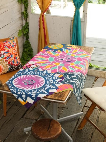 Pre-order sun party tablecloth/cloth (three colors) ISAP7357