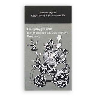 Portable note paper (gray) Find playground.