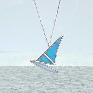 Of stained glass necklace [windsurfing]