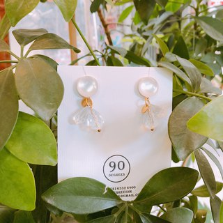 SS18 Transparent Drop Earrings - White