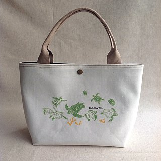 Design No.ST129 - 【Cotton Canvas】Sea Turtle Pattern Totes