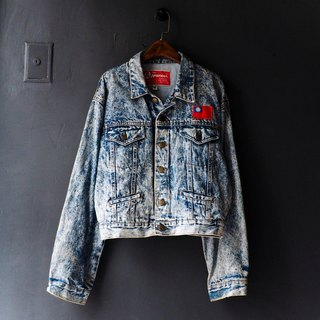 River Hill - snowflakes swirling PROUD Love vintage denim shirt jacket shirt oversize vintage