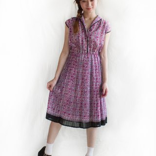 Halo rose half sleeve vintage dress