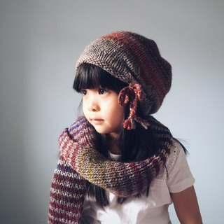 Bohemian gradient clause wool cap children's size (excluding scarves)
