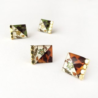 SQUARE PIERCE -Tortoise shell-