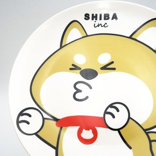 SHIBAinc [kiss (white background)] shallow dish / plate / plate [Limited Edition]