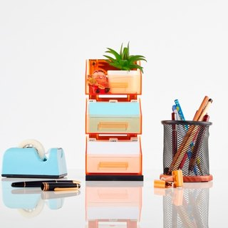 Magnetic Office Supplies Organizer - 3 Tier - Orange