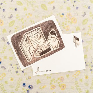 Afternoon tea / illustration story postcard