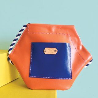 Sonniewing's Hexagon Color Block Leather Shoulder Bag