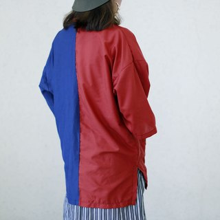 Two-color short sleeve kimono