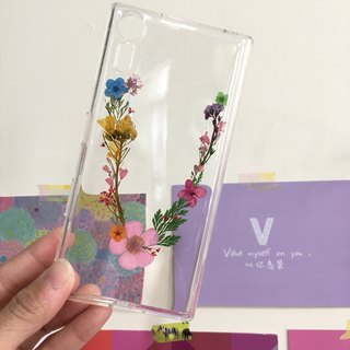 V for Veronica exclusive English alphabet flower phone case
