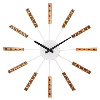 Nidrum- National Totem Silent Clock Wall Clock (White)
