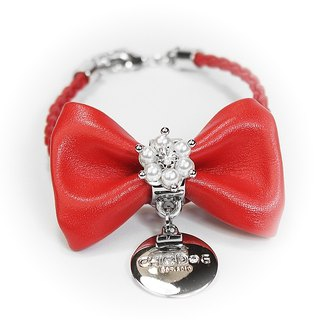 CHIC DOG Small pearl bow
