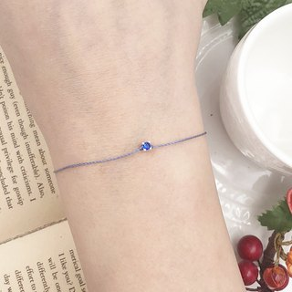 925 sterling silver ultra small four claw drill blue drill sky blue red line bracelet exquisite mini noble
