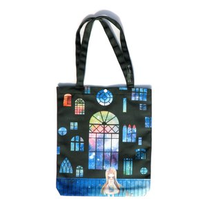 Black Window - Printed Canvas Tote